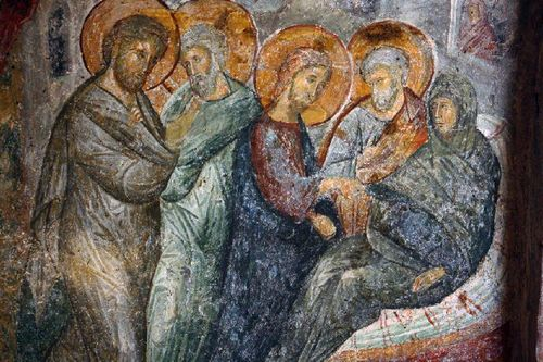 Gesù Guarisce suocera  di Pietro m