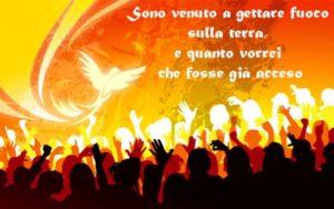 XX Domenica del T.O. - Il fuoco dell'amore, acceso da Cristo nel mondo per mezzo dello Spirito Santo, è un fuoco senza limiti, universale  che brucia ogni divisione fra individui, categorie sociali, popoli e nazioni.