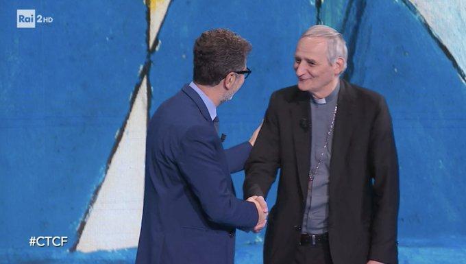 """Conversazione del Cardinale Matteo Zuppi con Fabio Fazio a """" Che tempo che fa"""""""