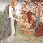 XVIII  DOMENICA del T.O. - Gesù celebrò il Suo banchetto in un prato con la turba seduta sull'erba. Noi vorremmo poterlo celebrare nelle officine, nelle piazze, nelle famiglie, nelle carceri, dovunque l'uomo ama e soffre...